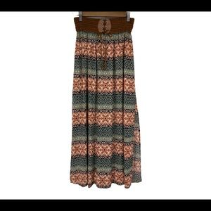 POETRY MIDI SKIRT, multi color print, size Large